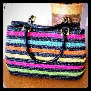 Handbags - Rainbow Wheat Straw Handbag